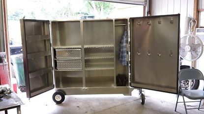 Picture of 4 Wheel Box with Clothing Storage