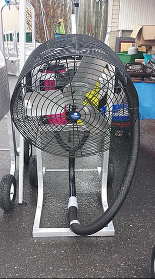 Double Blower Fan Cart